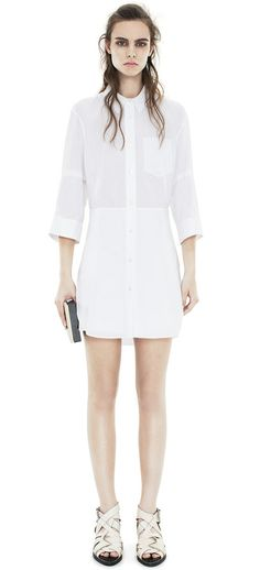Acne: Dee Solid Off White Shirtdress