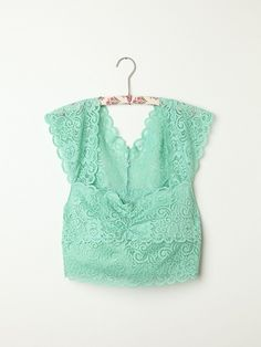 Free People Scallop Edge Lace Crop