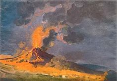 Joseph Wright, Vesuvius in Eruption. Gouache on paper (1774). Image © 2010 Derby Museums and Art Gallery