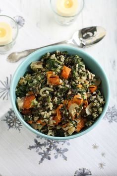 Sweet potato and wild rice stuffing - a delicious dish for Thanksgiving!