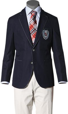Crested piped blazer