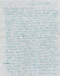 Frida Kahlo, Paris, France letter to Nickolas Muray, New York, N.Y., 1939 Feb. 16