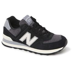 New Balance 574 Penant Collection Sneakers (1.195 ARS) ❤ liked on Polyvore featuring shoes, sneakers, new balance footwear, new balance, cushioned shoes, new balance shoes and lace up sneakers