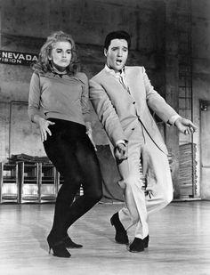 """Ann-Margret & Elvis Presley in """"Viva Las Vegas""""."""