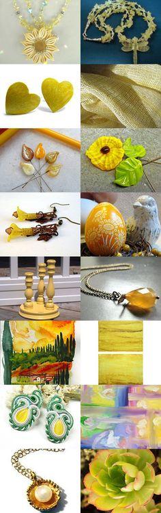 STATteam Summer Yellows by Marcia McKinzie on Etsy--Pinned with TreasuryPin.com  #Estyhandmade #giftideas #summerfinds