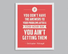 Running Answers Problems Retro Print  by StephLawsonDesign on Etsy