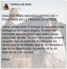Oración de la mañana / Gracias Dios / un nuevo día / oración / Dios / Jesús / amanecer / buenos días / levanto mis manos / iniciar nuestro día / presencia De Dios / fe / misericordia