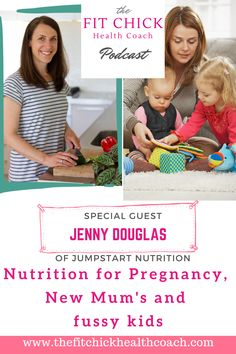 Jenny Douglas of Jumpstart Nutrition is here to talk to us about nutrition for Mum's. She covers pregnancy nutrition, has tips for new Mum's to get the best start, plus great ideas for fussy eaters. Diastasis Recti Exercises, Pelvic Floor Exercises, Fitness Nutrition, Fitness Tips, Fitness Goals, Find Your Strengths, Pregnancy Nutrition, Postnatal Workout, New Mums