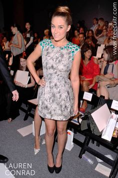 A perky Lauren Conrad spotted at the Lela Rose NYC Fashion Week.