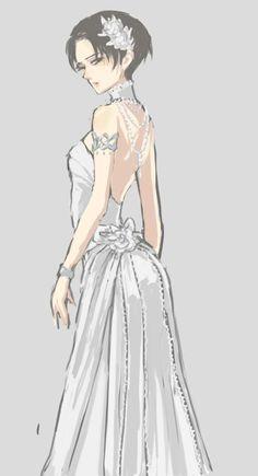 Female Levi Oooooo in a wedding dress? Who u gonna marry , eeerrreeeen?