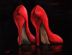 Art print  Red pumps by artbygeorgia on Etsy, $26.00