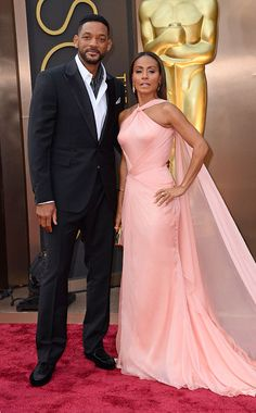 Will Smith and Jada Pinkett Smith in Versace