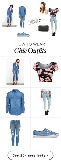 """""""Deleting"""" by lovefashion721 on Polyvore featuring Charlotte Russe, Michael Kors, Frame Denim, New Look and Vans"""