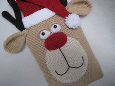 Ravelry: Reindeer Hot Water Bottle Cover Christmas Animal pattern by Millionbells