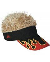 Guy Fieri Flair Hair USA Visor with Blonde Hair  ConceptOne ... 497e081c28d2