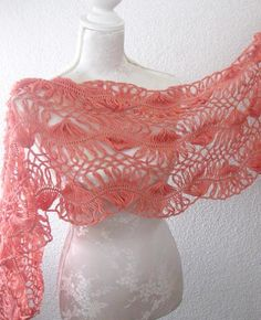 789d810217c13 Delicate lace knit shawl.  54 Neck Warmer