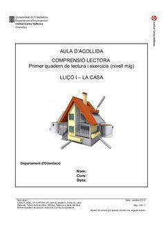 Caaco dos 1213_mt030_r1_primer_quadern_inicial_la_casa by mtalaverxtec via slideshare Valencia, Montessori, Good Things, Teaching, Education, School, Cases, Ideas, Initials