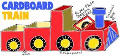 TRAIN CRAFTS FOR KIDS: Ideas to make choo choo trains  locomotives with easy arts and crafts decorations, instructions, patterns, and activities for children, preschoolers, and teens crafty-things