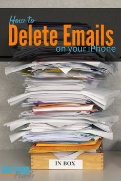 How to Delete Emails on your iPhone or iPad | How to Delete Emails from the Lock Screen on iPhone | Remove Emails from an iPhone via @GermanPearls