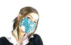 * Make a breathing mask against coronavirus yourself Great Super DIY respirator-mask-of-t. Diy Mask, Diy Face Mask, Face Mask For Pimples, Banana Face Mask, Breathing Mask, Face Care Routine, Clothes For Pregnant Women, Coconut Oil For Face, Respirator Mask