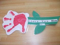 preschool+spring+crafts | Preschool Crafts for Kids*: Handprint Flower Mother's Day Craft