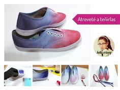 Tutorial-customizar zapatillas chulas!! http://idoproyect.com/blog/diy-zapatillas-oh-yeah/