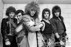 Bon Jovi, Alec John Such, David Bryan, Jon Bon Jovi, Richie Sambora, Tico Torres, Roanoke, Virginia, 1985