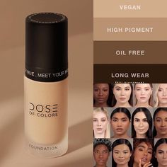 Finally 🚨 More Complexion is coming ! 🙌🏻🙌🏼🙌🏽🙌🏾🙌🏿 by in 42 shades, 6 shade categories, Dose Of Colors, Colour Images, Hue, Makeup Looks, Foundation, Nail Polish, Lipstick, Shades, Beauty