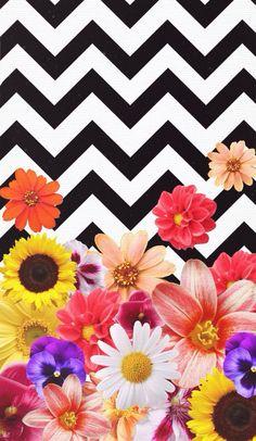 Chevron Flowers - Design by Daniella Garcia