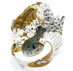 Daniella SarayaRing: Untitled 2013Epoxy, brass, quartz4 x 3 cm