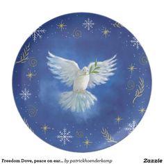 Freedom Dove, peace on earth Plates