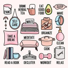 Self Care Bullet Journal, Vie Motivation, Things To Do When Bored, Mental And Emotional Health, Self Care Activities, Self Improvement Tips, Self Care Routine, Take Care Of Yourself, Self Help