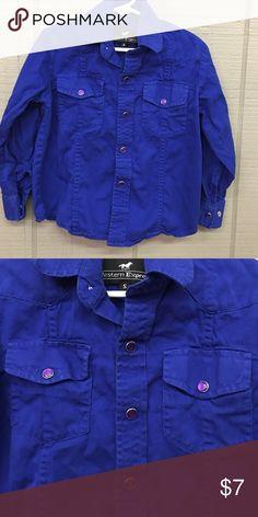 Western express small royal blue w/purple buttons Western express small royal blue w/purple buttons 5/6 western express  Shirts & Tops Button Down Shirts
