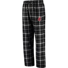 Washington State Cougars Concepts Sport Ultimate Flannel Pajama Pants - Black - $23.99