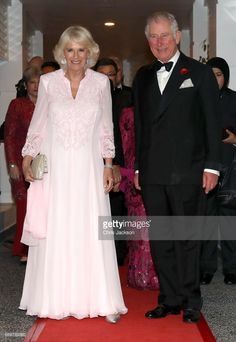 From royal weddings to tiara-worthy galas, Camilla Parker Bowles' sense of style never fails to impress. Here's a collection of the Duchess of Cornwall's greatest fashion moments. Camilla Parker Bowles, Gala Dinner, Kuala Lumpur, Charles X, Camilla Duchess Of Cornwall, Style Royal, Royal Uk, Pink Gowns, Herzog