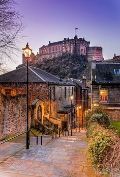 The Vennel at Twilight , Edinburgh by TPFoster, Scotland Vacation, Scotland Travel, Edinburgh Photography, Travel Photography, Mykonos, Foto Website, Newcastle, Oh The Places You'll Go, Places To Visit