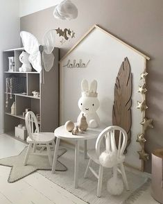 Love this gorgeous kid's play corner by @nr13b Gold star garland and Cloud mobile are now back in stock . #kidsroom #kidsdecor #kidsroomdecor #kidsroominspo #nordichome #nordicinspiration