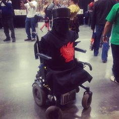 Monty Python Black Knight costume.  Most creative wheelchair costume for adults!