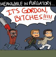 I have no idea why I laughed. . . I think it's Gordon's face. . . or the damn quote