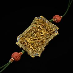 Lot: SOLID GOLD & ENAMEL INLAID PHOENIX AMULET, Lot Number: 0119, Starting Bid: $800, Auctioneer: EDEN Fine Antiques Galleries, Auction: Day-1 SPRING 2017 FINE ARTS, ANTIQUE & ESTATE, Date: April 14th, 2017 CEST