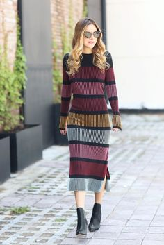 @stylemeetsme makes dressing easy for the entire day using our knit dress to go day to night. | H&M OOTD