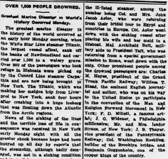 On this day, 103 years ago, the Titanic sunk killing over 1,500 people. Here's a snippet of the article that appeared in the April 18, 1912 issue of the Greensboro Patriot. To read the full article, click the link below. The article is on the right hand side at the top.