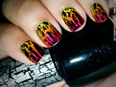 Sunset colors with crackle