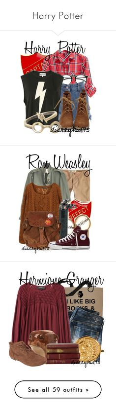 """Harry Potter"" by disneykid95 ❤ liked on Polyvore featuring мода, 2b bebe, INDIE HAIR, Wildfox, Jack Wills, Nili Lotan, CO, Topshop, Converse и Replay"