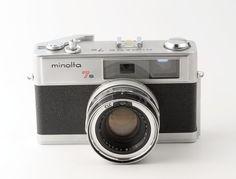Minolta Hi Matic 7s 35mm Rangefinder Camera with Rokkor 45mm f1.8 Lens + Case