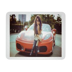 "SEXY WOMAN ON CAR MOUSEPAD. PRODUCT INFORMATION 9.25 "" X 7.75 "" 1/4 "" THICKNESS MADE OF DURABLE NEOPRENE PAD CONSISTS OF A SOFT BACKING WITH A POLYESTER TOP"
