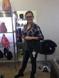 Katka se zamilovala do kabelky DOCA, ke které si rovnou koupila i peněženku.
