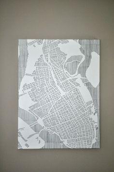 Charleston Map Art