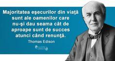 Citat Thomas Edison Motto, Inspirational, Education, Feelings, Life, Teaching, Training, Educational Illustrations, Learning