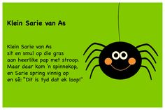 Klein Sarie van As - Kinderrympies in Afrikaans Alfresco Designs, Classroom Layout, Kids Corner, Kids Songs, Afrikaans, Child Development, Kids Education, Nursery Rhymes, School Projects